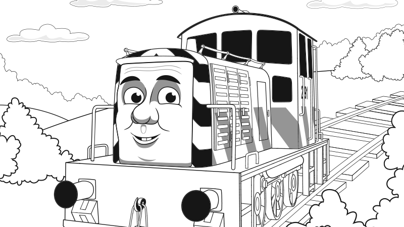 Thomas Color Pages - Coloring Home | 450x800