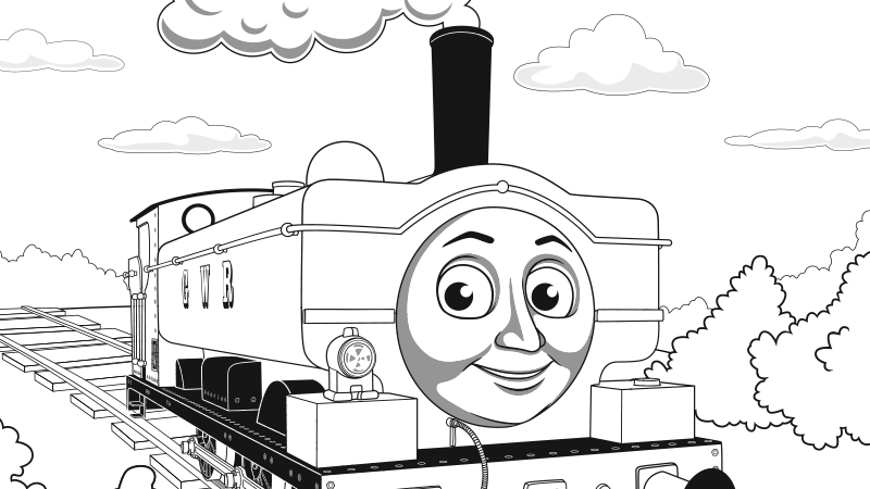 Play thomas friends games for children thomas friends for Spencer the train coloring pages