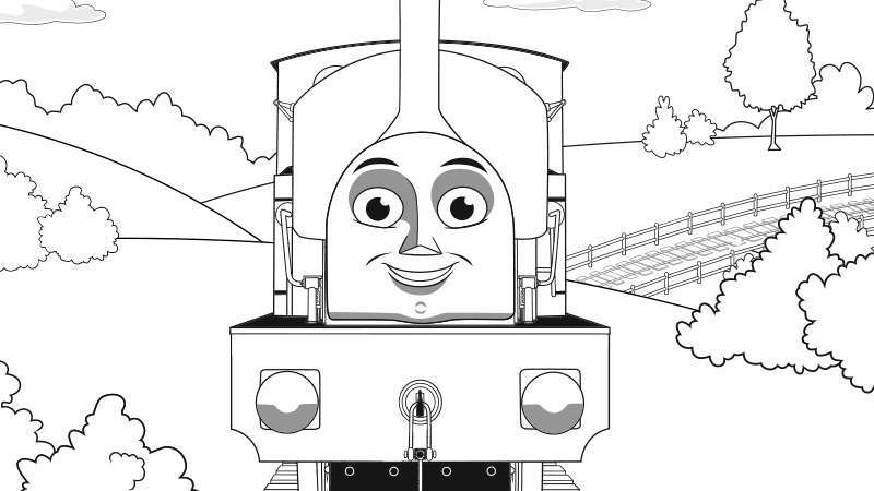 Stanley the tram engine coloring pages ~ Play Thomas & Friends Games for Children | Thomas & Friends