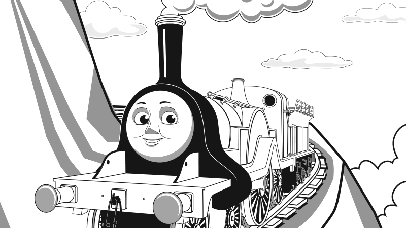 Awesome Thomas And Friends Coloring Pages Emily Frieze - Resume ...